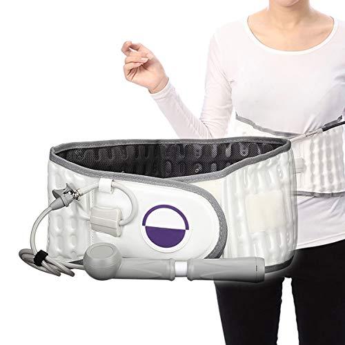 GHHYS Faja Lumbar para la Espalda, Dispositivo de tracción Lumbar Soporte de Cintura Inflable, cinturón de Soporte Transpirable con Bomba de Aire, para aliviar el Dolor y prevenir Lesiones
