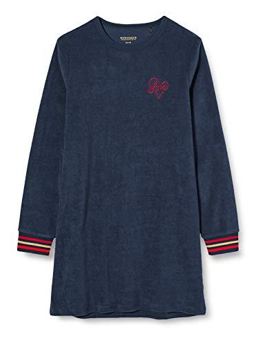 Schiesser Mädchen Sleepshirt 1/1 Nachthemd, Nachtblau, 152