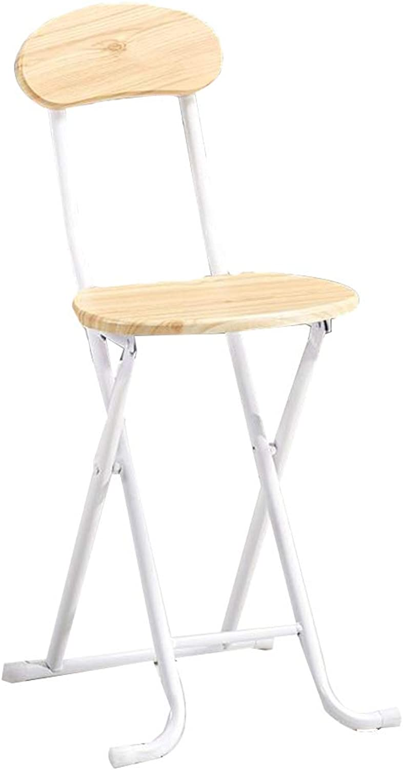 Folding Chair Home Back Chair Dormitory Simple Computer Folding Stool(32  27  75cm) (color   White)