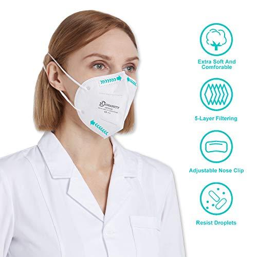10 X AOSANITY FFP3 Atemschutzmaske - Konforme Maske EN 149:2001+A1:2009, Maske mit mehrschichtigem System, hoher Filtrationskapazität Zusätzlicher Komfort und Sicherheit - 6