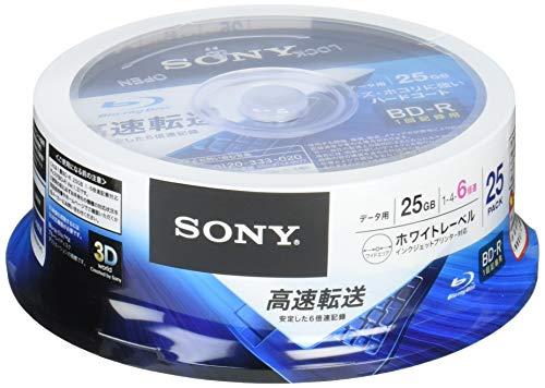 ソニー データ用ブルーレイディスク 25BNR1DCPP6(BD-R 1層:6倍速 25枚パック)