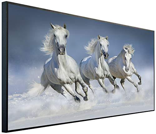 Ecowelle Infrarotheizung mit Bild | 600 Watt | 60x120x2 cm | Infrarot Heizung| | Made in Germany| b 44 laufende Pferden