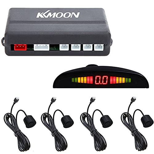 KKmoon Coche Aparcamiento Marcha Atrás de Reserva Sistema Radar de Marcha atrás con 4Sensor de Aparcamiento Kit LED Display