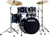 Tama Imperialstar IE50C 5-piece Complete Drum Set with Snare Drum and Meinl Cymbals - Dark Blue