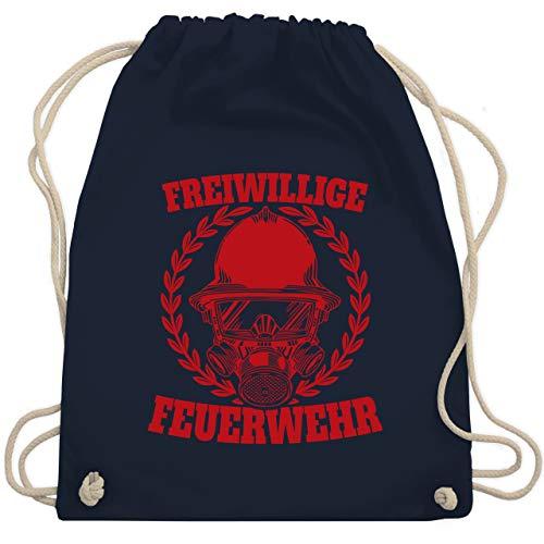 Shirtracer Feuerwehr - Freiwillige Feuerwehr rot - Unisize - Navy Blau - turnbeutel feuerwehr - WM110 - Turnbeutel und Stoffbeutel aus Baumwolle