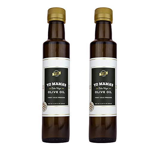 Extra Virgin Olive Oil & 100% Pure Avocado Oil Yo Mama's Foods - Low Carb, Low Sodium, and Gluten-Free (Extra Virgin Olive Oil, 8.45 Ounce (Pack of 2))