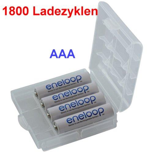 Sanyo eneloop HR-4UTGB Micro AAA NiMH Akku 800mAh, 1800 Ladezyklen, 4er-Pack