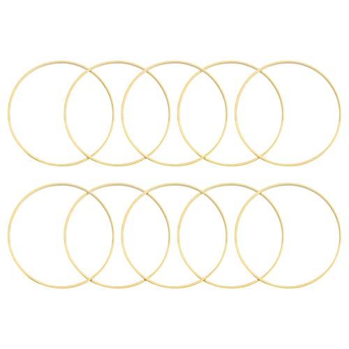 10 aros de madera de madera de diámetro para atrapasueños, redondos, para atrapasueños, manualidades, 20 cm