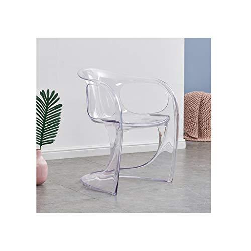 LRZS-chairs Transparent Stuhl kreativen Freizeit-Stuhl Nordic Dining Chair Einfacher moderner Bürostuhl Mode Kunststoff zurück Stuhl Empfang Stuhl Bar Stuhl Konferenzstuhl (Color : Clear)