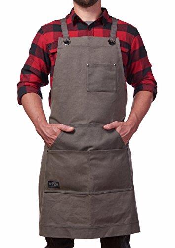 Hudson Durable Goods - Heavy Duty Waxed Canvas Work Apron - Grey