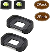 EB 80D Eyepiece Eyecup Viewfinder Eye Cup for Canon EOS 80D/70D/60D/50D/40D/20D/5D Mark II/5D Mark I/6D Mark II/6D Mark I Camera (2-Pack), ULBTER 5D2/6D2 viewfinder Eyecup with Hot Shoe Cover