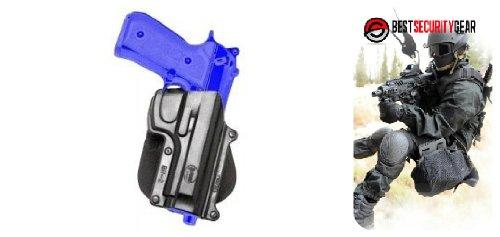 BR2 ROTO Fobus Negro Mano Derecha RH pistola ROTO Funda para BR2 Fobus pistolera Beretta 92 96 92 99 Taurus CZ75-B 9mm Fobus BR2-RT + mejor imán de herramientas de seguridad