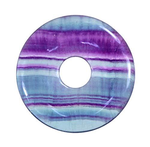 Lebensquelle Plus Fluorit Edelstein Donut Ø 30 mm Anhänger Regenbogenfluorit