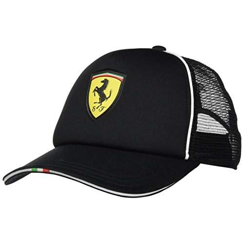 Puma Ferrari Fanwear Trucker, Cappello Uomo, Black, Taglia Unica