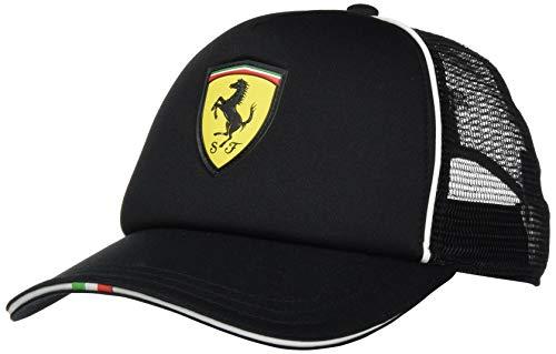 PUMA Ferrari Fanwear Trucker Cap Gorra, Hombre, Black, Adult