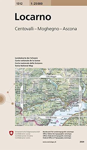 1312 Locarno: Centovalli - Moghegno - Ascona (Landeskarte 1:25 000)