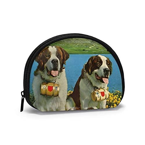 Charm Saint Bernard Alpine B perro impreso temático cambio monedero lindo Shell almacenamiento...