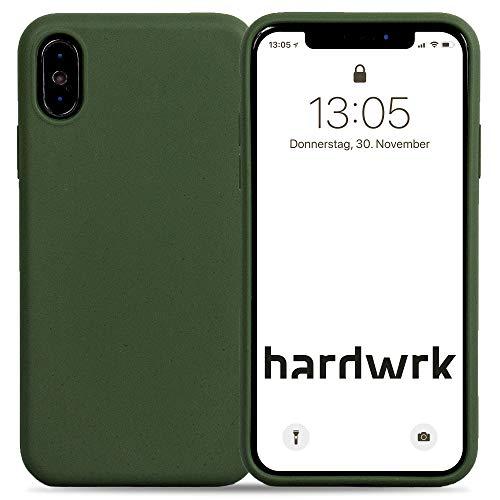 hardwrk Premium Eco Case - kompatibel mit Apple iPhone X/XS - grün - Nachhaltige, kompostierbare, biologisch abbaubare Schutzhülle Handyhülle Cover Hülle - Qi kabellos Laden