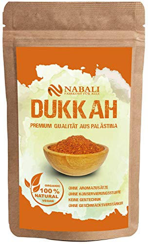 NABALI FAIRKOST FÜR ALLE Gewürzmischung Dukkah Dukka nach Ottolenghi - 100% naturell aromatisch traditionell frisch orientalisch I ohne Konservierungsstoffe I vegan (100 GR)