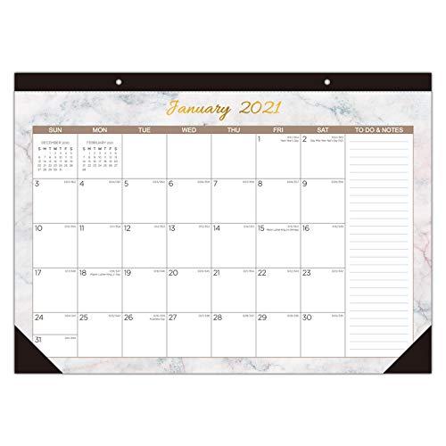 "2021 Desk Calendar - Large Monthly Desk Pad Calendar for Planning & Organizing, 12 Months Desktop / Wall Calendar Planner Runs from January 2021 to December 2021, Size 17"" x 12"""
