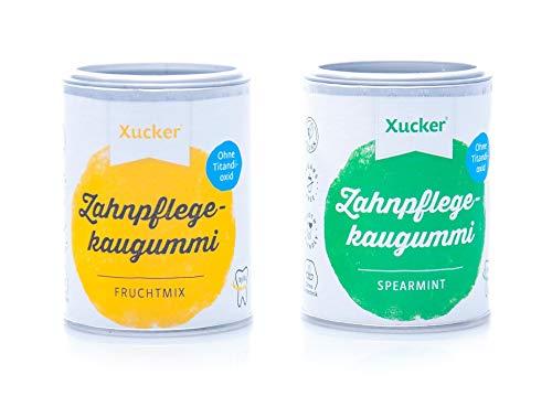 Xucker - 2er Kaugummi-Set - Spearmint und Fruchtmix (2 x 100 g)