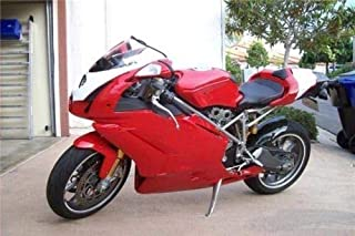 FidgetKute Motorcycle Body Fairing Injection Kit for Ducati 749 999 2005 2006 Red w/White
