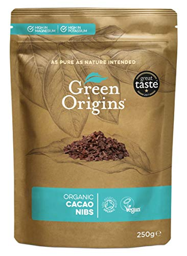 Green Origins Bio Kakaonibs, Rohes, 250 g