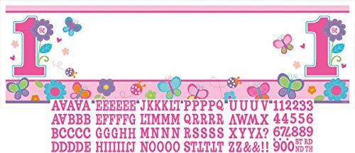 amscan Sweet Girl Bannière géante pour Le 1er Anniversaire d'Une Petite Fille À Personnaliser