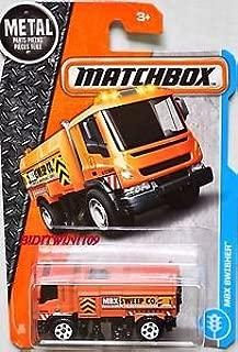 Matchbox 2017 MBX Adventure City MBX Swisher (Street Sweeper) 16/125, Orange
