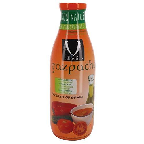 Villaolivo - Gazpacho Litro 100% Natural Sin conservantes Sin Gluten - Botella 1L