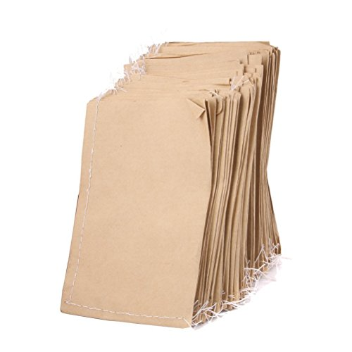 LEORX Lot de 100 sacs de rangement en papier kraft