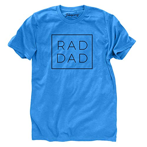 Rad Dad Boxed T-Shirt Unisex Crewneck Large Blue