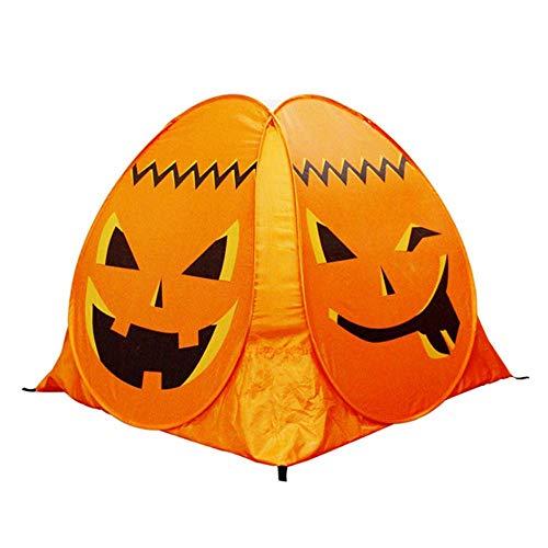 Kinder Spielen Zelt Halloween Pump-Kin Zelt Holiday Party PropsToy für Kinder Indoor Outdoor Camping Zubehör Spielzeugzelte Spiel Zelt Halloween Outdoor Indoor Spielhaus Spielzeug (Orange)