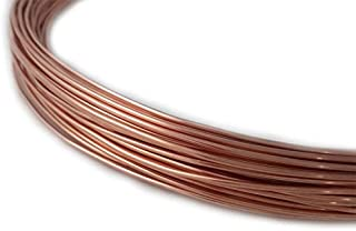 1 Ounce (13 Ft) Solid Copper Wire 18 Gauge, Round, Half Hard - from Craft Wire