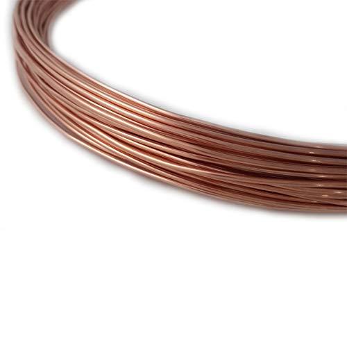14 Gauge, 99.9% Pure Copper Wire, Round, Dead Soft, CDA #110-5FT from Craft Wire