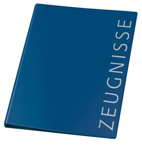 Veloflex 4144250 Ringbuch Zeugnisse A4, Zeugnisringbuch, Zeugnismappe, 4-Ring-Mechanik, 16 mm, PVC, blau