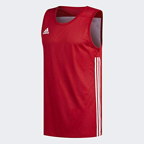 adidas 3G SPEE Rev JRS Camiseta sin Mangas, Hombre, Power Red/White, L