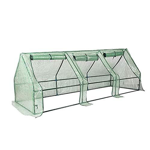 ZWWS-YJ Quictent UV étanche protégé renforcé Mini Greenhouse Portable Green House Hot Serre Jardin Cadre métal avec de Grandes Portes à glissière L240CM (Color : A1)