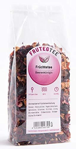 FRUTEG Loser Früchtetee Beerenkönigin 1000 g I Früchtetee lose - feinste Blatt-Qualität I leckere Komposition der Tee-Mischung mit Himbeeren Erdbeeren Brombeeren I hochwertiger Tee lose 1 kg