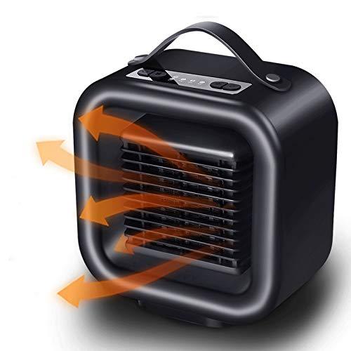 Ewendy - Calefactor portátil para terraza - Calefacción de invierno y ventilador de cerámica con calefacción rápida - Sistema de calefacción eléctrica vertical