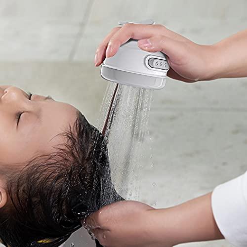 2-in-1 Three-Speed Adjustment Bathroom Shower Head Adjustable Shower Head,High Pressure Shower Head Handheld Spray (White)