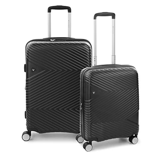 RONCATO Arrow Set 2 maletas rígidas ampliables (medio + cabina) 4 ruedas tsa Negro