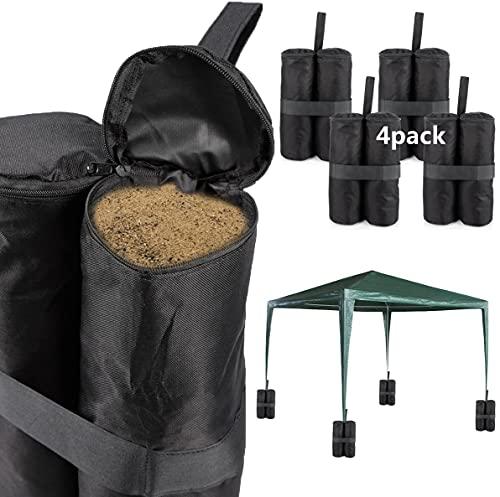 MG-Trade 4er Set Pavillonstandfüße Gewichte Standsicherung zur Stabilisation für Pavillons Gartenzelte Festzelte