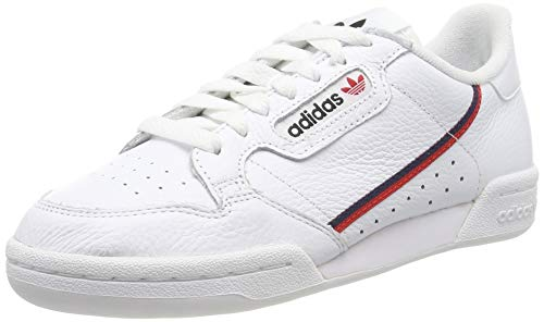 Adidas Continental 80, Zapatillas para Hombre, Blanco (FTWR White/Scarlet/Collegiate Navy FTWR White/Scarlet/Collegiate Navy), 44 EU