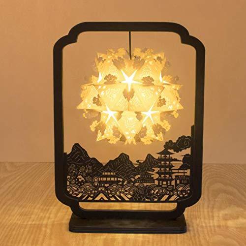 QCKDQ 3D Papercut Light Box, stereo-box om zelf te maken, van papier, creatief licht, nachtlampje van de lamp voor creatieve verlichting van een bruiloftsdag