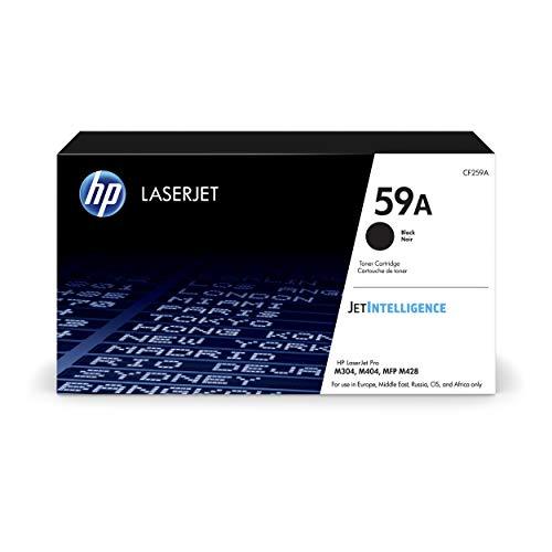 HP 59A CF259A, Negro, Cartucho Tóner Original, de 3.000 páginas, para impresoras HP LaserJet Pro M404n, M404dn, M404dw, MFP M428dw, MFP M428fdn, MFP M428fdw y M304a