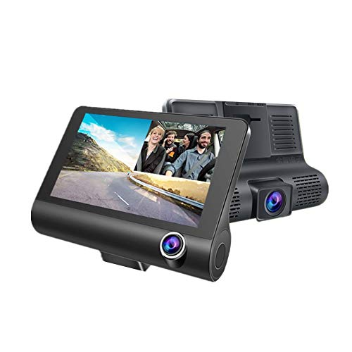 Camara Trasera De Coche Dash Cam Cámara delantera y trasera de la cámara del salpicadero Cámara del coche Dash Cam delantera y trasera Dual lens,One Size