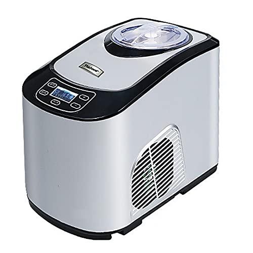 NZQLJT Eismaschinen, Eismaschine Testsieger, Eismaschine Mit Kompressor 1,5 L Mit Wärmeschutz, Eismaschine 30 Minuten Geräuscharm Für Gesundes Dessert Make