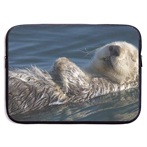 Water Otter While Sleeping Laptop Sleeve Bag Case,Laptop Briefcase Soft Carring Tablet Travel Case,13 inch