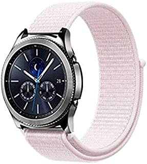 TI-PCCOPO 22Mm 20 Band Bip for Samsung Gear S2 Sport S3 Classic Frontier for Galaxy Watch 42Mm 46 Gt 2 Active Honor Magic (Light Pink, 20Mm Huawei Watch 2)